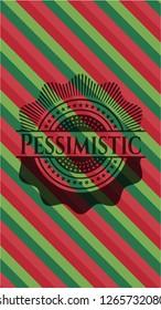 Pessimistic christmas style emblem.