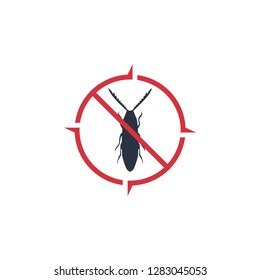 Pest Control Logo Template. Insect Vector Design. Bug Illustration - Vector