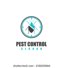 Pest control logo vector illustration