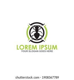 pest control vector , insecticide logo