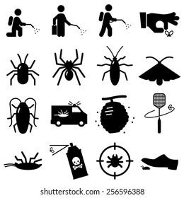 Pest exterminator icons