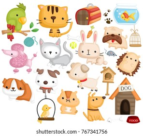 Pet Animal Vector Set