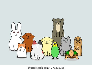 pet animals group