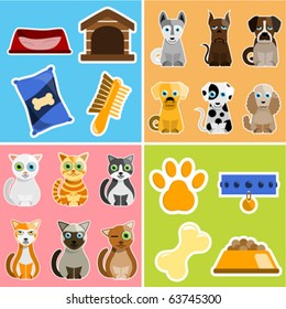 pet animals and objects