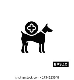 Pet care Icon Vector. Pet clinic Icon Vector Illustration Template For Web and Mobile