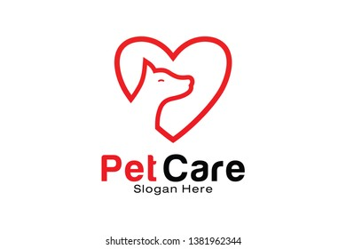 Pet Care logo design template