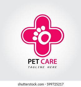 Pet care logo, pet shop, pet pawn