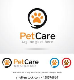 Pet Care Logo Template Design Vector