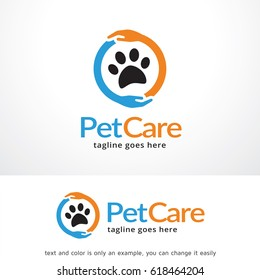 Pet Care Logo Template Design Vector, Emblem, Design Concept, Creative Symbol, Icon
