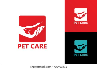 Pet Care Logo Template Design