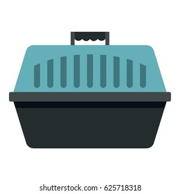 Pet carry case icon flat isolated on white background vector illustration