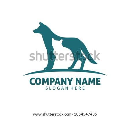 Pet Cat Dog Clinic Shop Adoption Stock Vector (Royalty Free ...