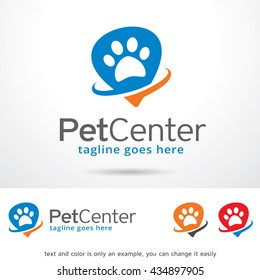 Pet Center Logo Template Design Vector