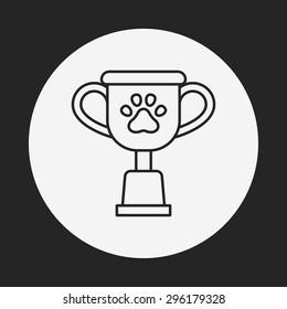 pet champion line icon