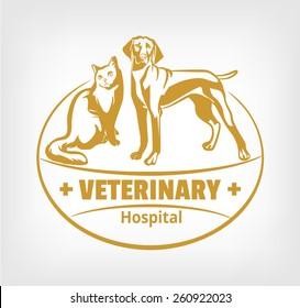 Pet clinic logo. Vector illustration