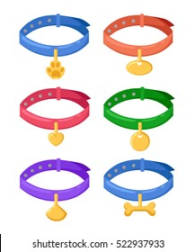 Pet collar icon of vector illustration for web and mobile design For dogs cats animal accessories