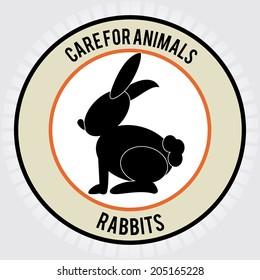 Pet design over gray background, vector illustration