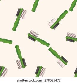 Pet dog brush 10, cartoon seamless pattern background
