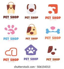 PET DOG SHOP LOGO ICON TEMPLATE LOGO