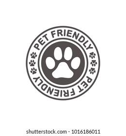 Pet friendly stamp. Vector illustration