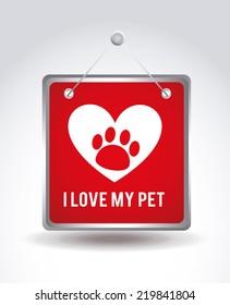 pet graphic design , vector illustration