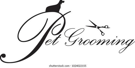 Pet Grooming, Dog Grooming Logo vector