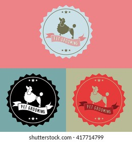 Pet Grooming Logo Sign Vector