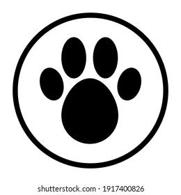 Pet hotel logo template. Vector illustration on white background