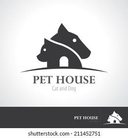 Pet house icon symbol design. vector illustration, Logo template design
