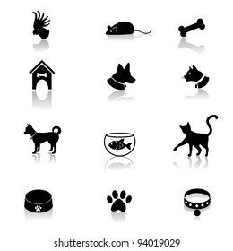 Pet Icons EPS 8 vector, grouped for easy editing. No open shapes or paths.