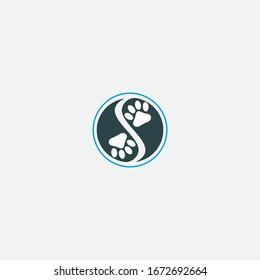 pet logo design and creative symbol