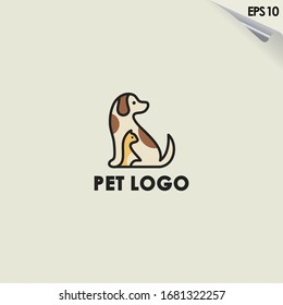 Pet Logo Design. Pet Logo Template. Modern Design. Flat Logo. Vector Illustration