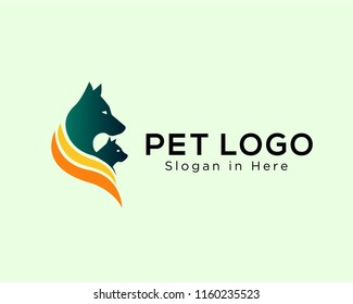 pet logo, dog and cat logo, pet shop logo
