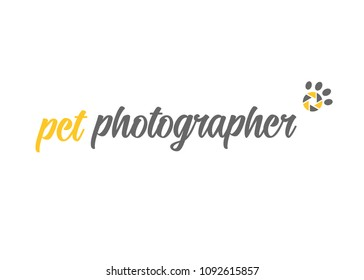 Pet photographer, aperture paw print, logo design