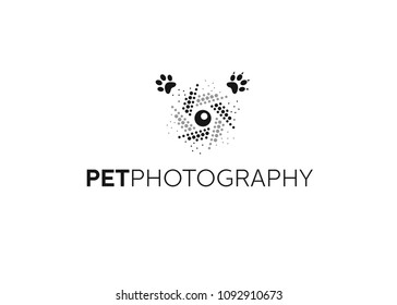 Pet photography logo, with shutter graphic, logo design
