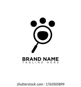 Pet Search Logo Design Template
