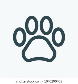 Pet shop. Animal paw vector icon