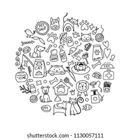 Pet shop background for your design