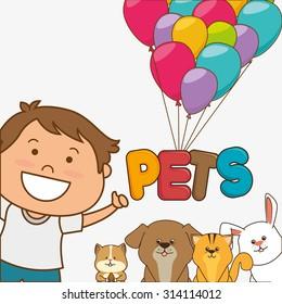 Pet shop design, vector illustration eps 10.