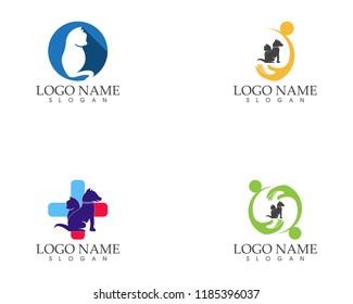 Pet shop icon logo vector template