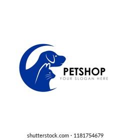 pet shop logo design template. pet home logo design vector icon