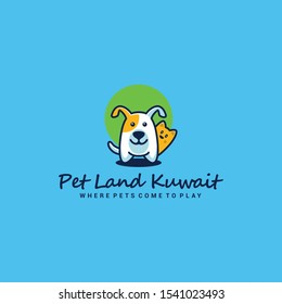 Pet shop logo design template