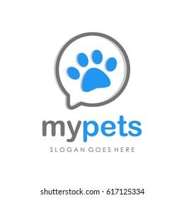 Pet shop logo full vector