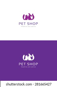 Pet shop logo teamplate.