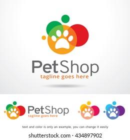 Pet Shop Logo Template Design Vector