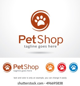 Pet Shop Logo Template Design Vector