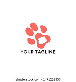 Pet shop logo template. Pet shop or store signboard. icon illustration with the concept of pet care