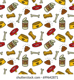 pet shop seamless doodle pattern
