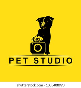pet studio, silhouette logo dog silhouette photography