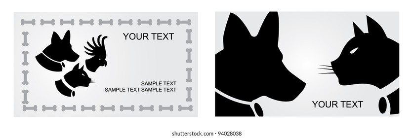 Dog business card images stock photos vectors shutterstock pet veterinary business card set eps 8 vector grouped for easy editing no open reheart Image collections